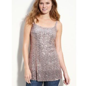 h.i.p. Sheer Sequin Camisole Tunic